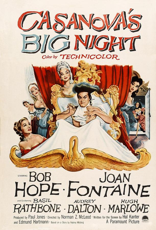 1954 Movies Photograph - Casanovas Big Night, Joan Fontaine, Bob by Everett