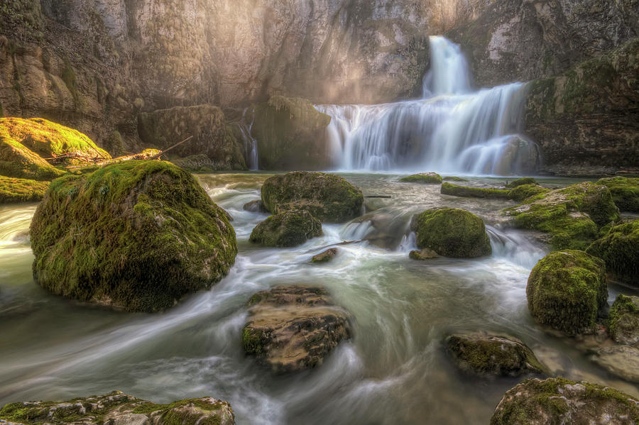 Horizontal Photograph - Cascade Of Billaud by Philippe Saire - Photography