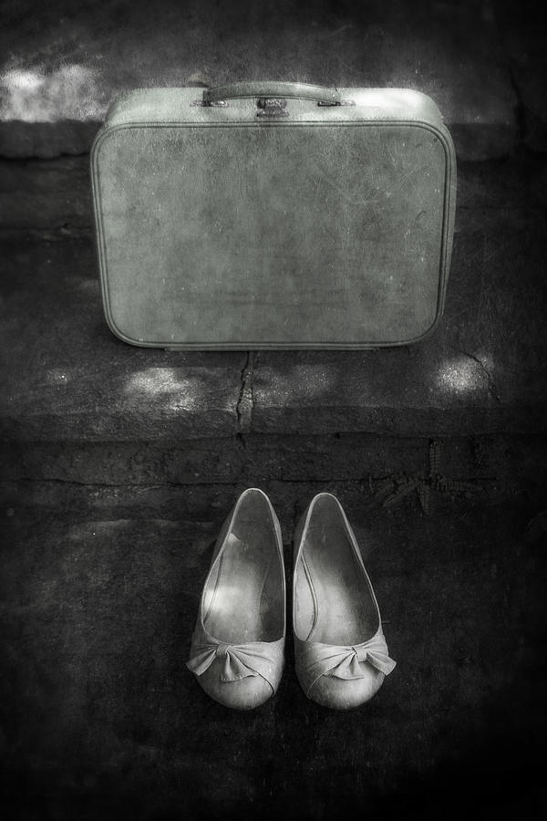 Suitcase Photograph - Case And Shoes by Joana Kruse