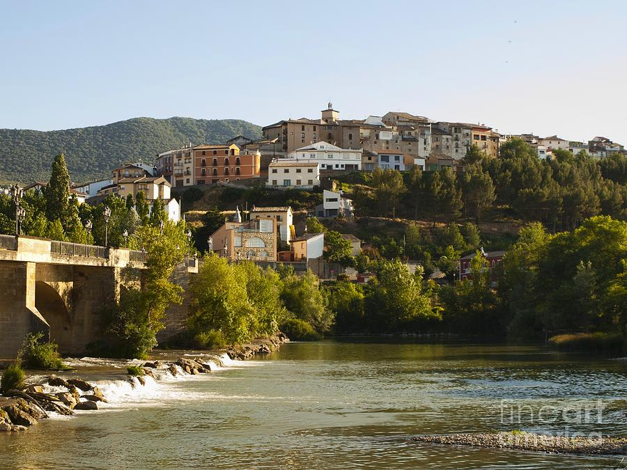 Village Photograph - Caseda And Aragon River by Alfredo Rodriguez