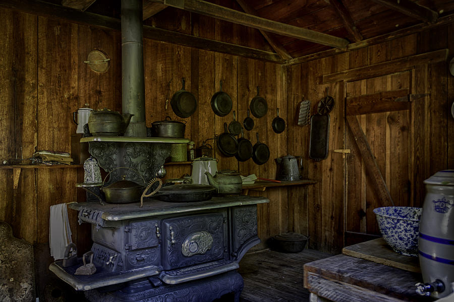 Kitchen Photograph - Cast Iron Wood Stove by Lynn Palmer