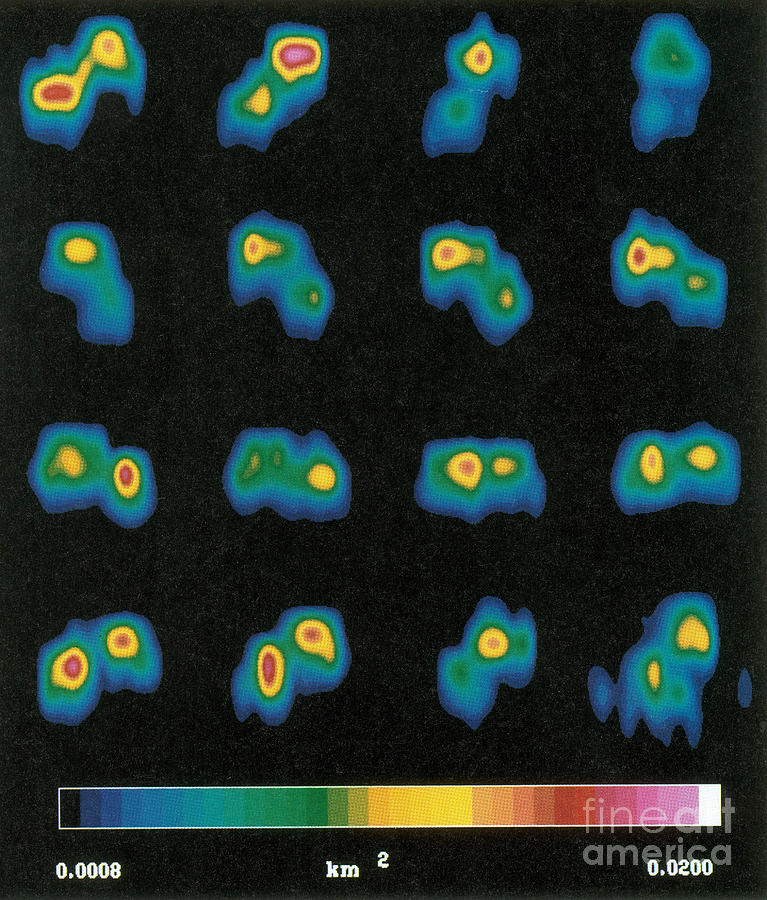 Science Photograph - Castalia Asteroid Sequence, False-color by Science Source