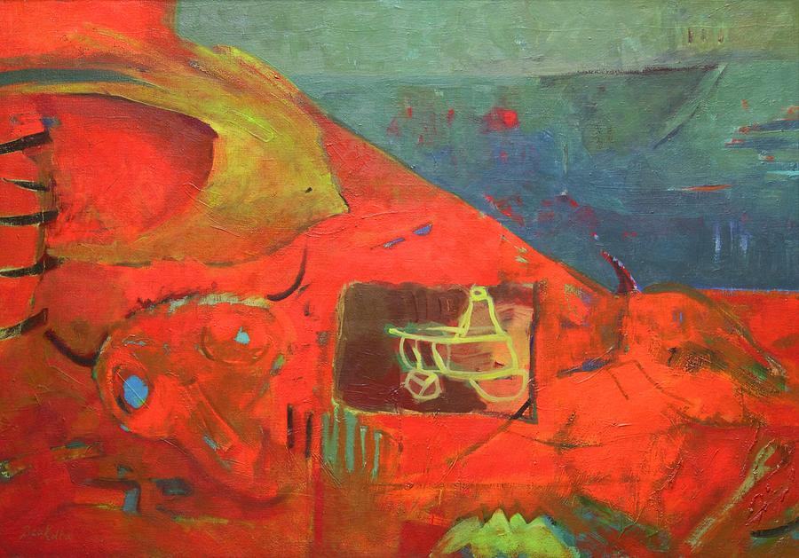 Island Painting - Castaway by Beata Kolba