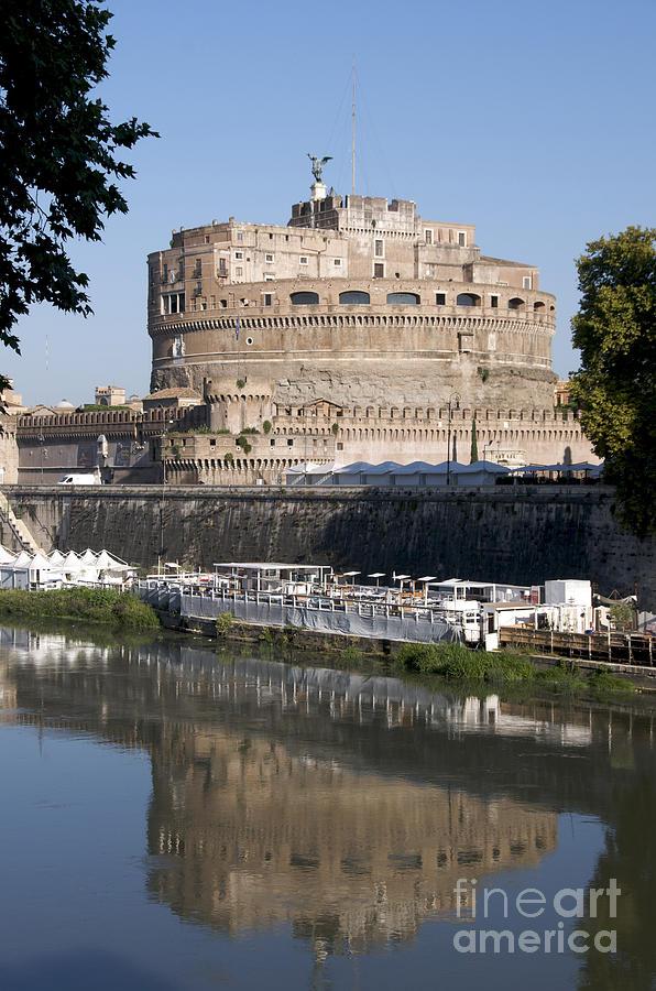 Tiber Photograph - Castel Santangelo Castle. Rome by Bernard Jaubert
