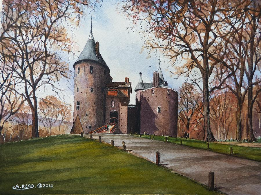 Castell Coch Painting - Castell Coch by Andrew Read