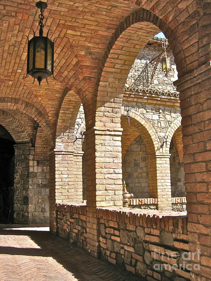 Venetian Bridge Photograph - Castello Amorosa by Italian Art