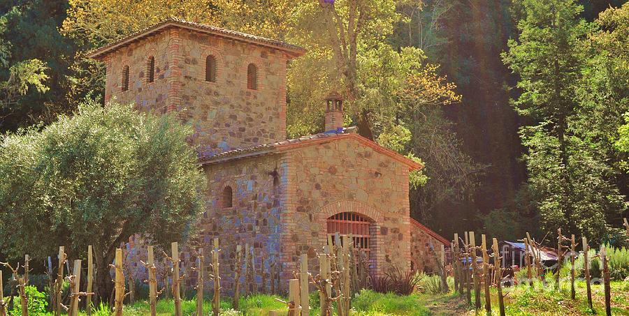 Farmhouse Photograph - Castillo De Amoroso Farmhouse Napa Valley by George Sylvia