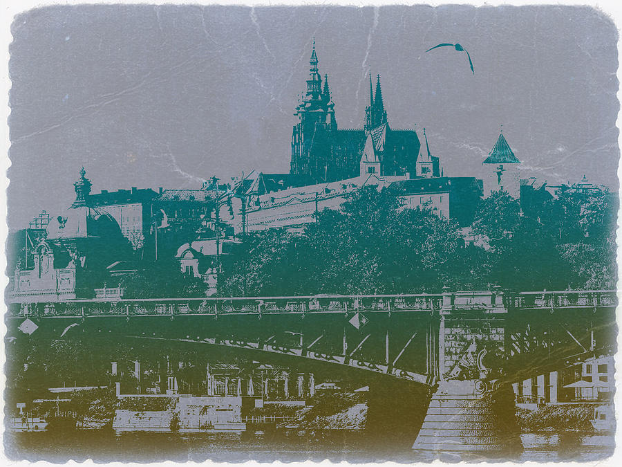 World Cities Photograph - Castillo De Praga by Naxart Studio