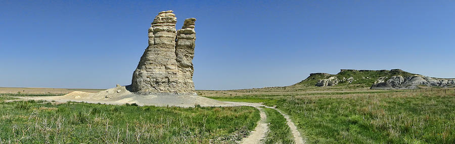 Kansas Photograph - Castle Rock by Alan Hutchins