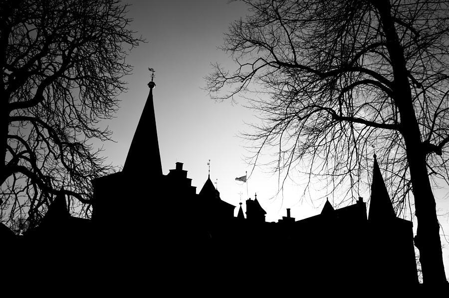 Black Photograph - Castle Silhouette by Semmick Photo
