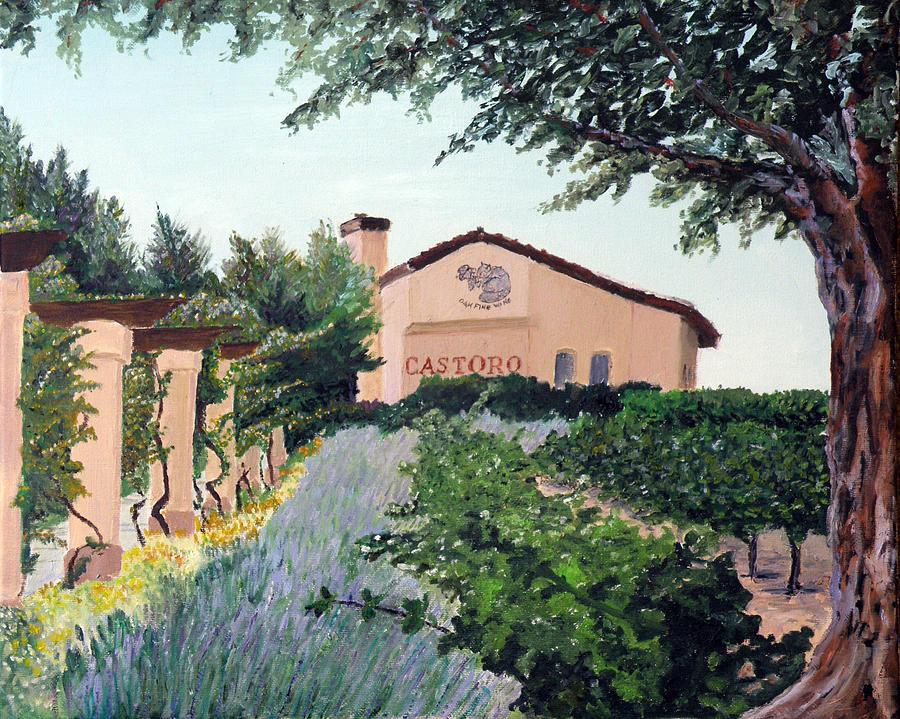 Castoro Winery Painting - Castoro Winery by Barbara Willey