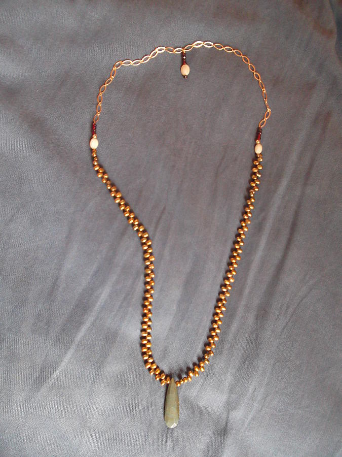 Agate Jewelry - Cat Eye Agate Necklace by Jan Durand