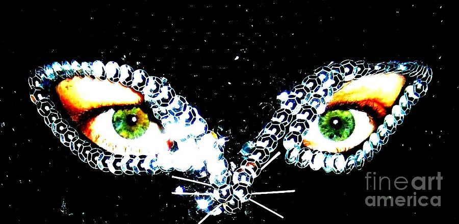 Cat Photograph - Cat Mask by C Lythgo