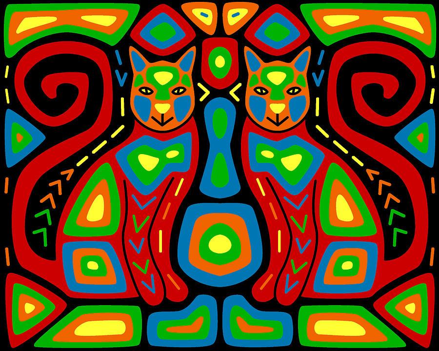 Cat Mola Digital Art By Alison Stein