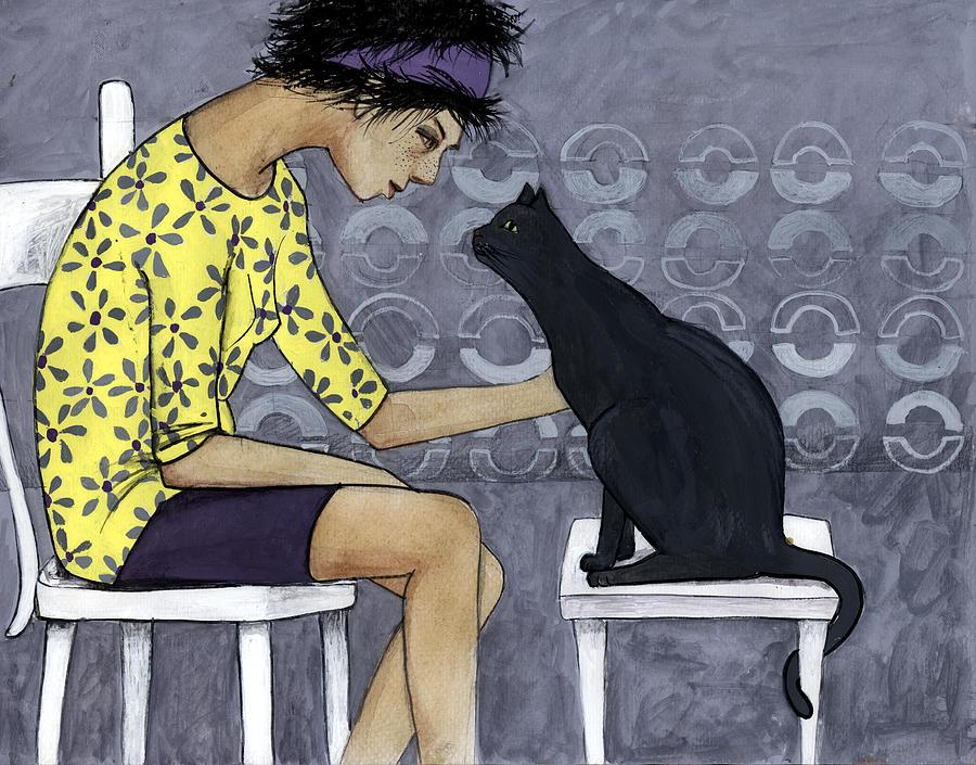 Teenager Digital Art - Cat Talk by Georgiana Chitac