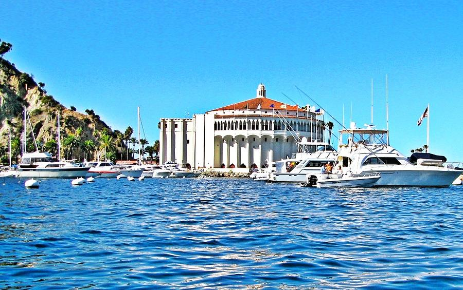 Catalina Photograph - Catalina Casino View From A Boat by Lauren Serene