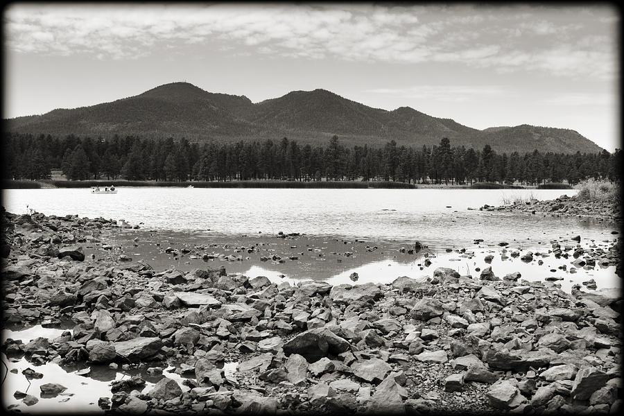 Arizona Photograph - Cataract Lake Black And White by Ricky Barnard