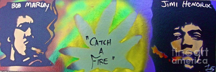 Hip Hop Painting - Catch A Fire by Tony B Conscious