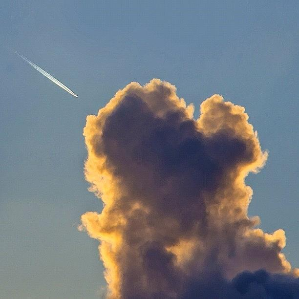 Love Photograph - Catch A Jet In The Clouds by Carl Milner