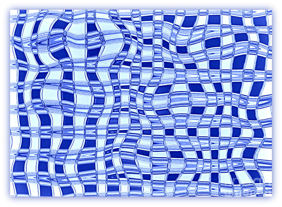 Abstract Photograph - Catch A Wave - Blue Abstract by Carol Groenen