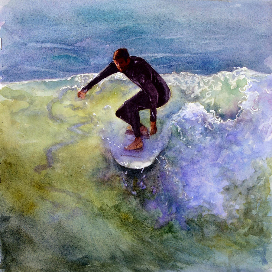 Wave Painting - Catch A Wave by Bonnie Rinier