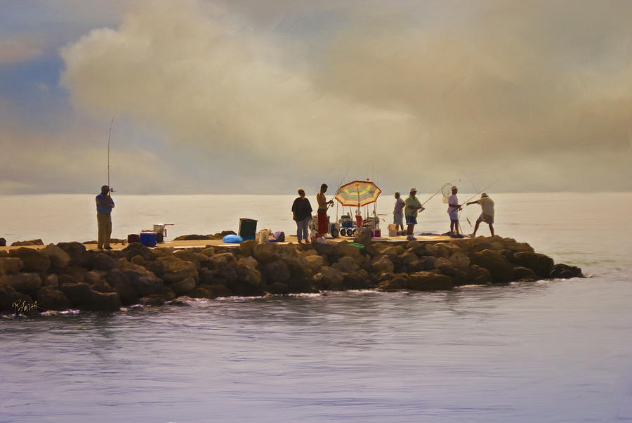 Fishing Painting - Catch Of The Day by Robert Smith