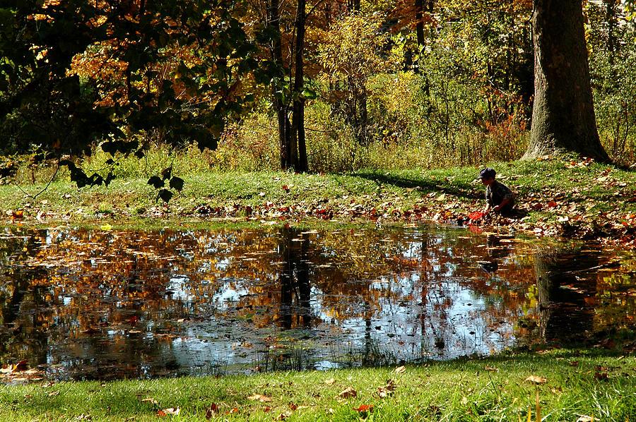 Usa Photograph - Catching Frogs by LeeAnn McLaneGoetz McLaneGoetzStudioLLCcom