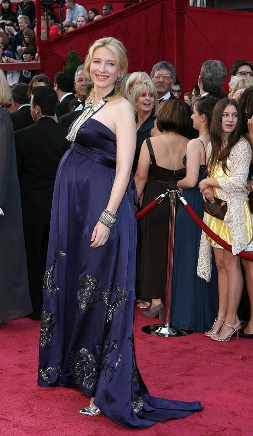 Academy Awards Photograph - Cate Blanchett Wearing A Dries Van by Everett