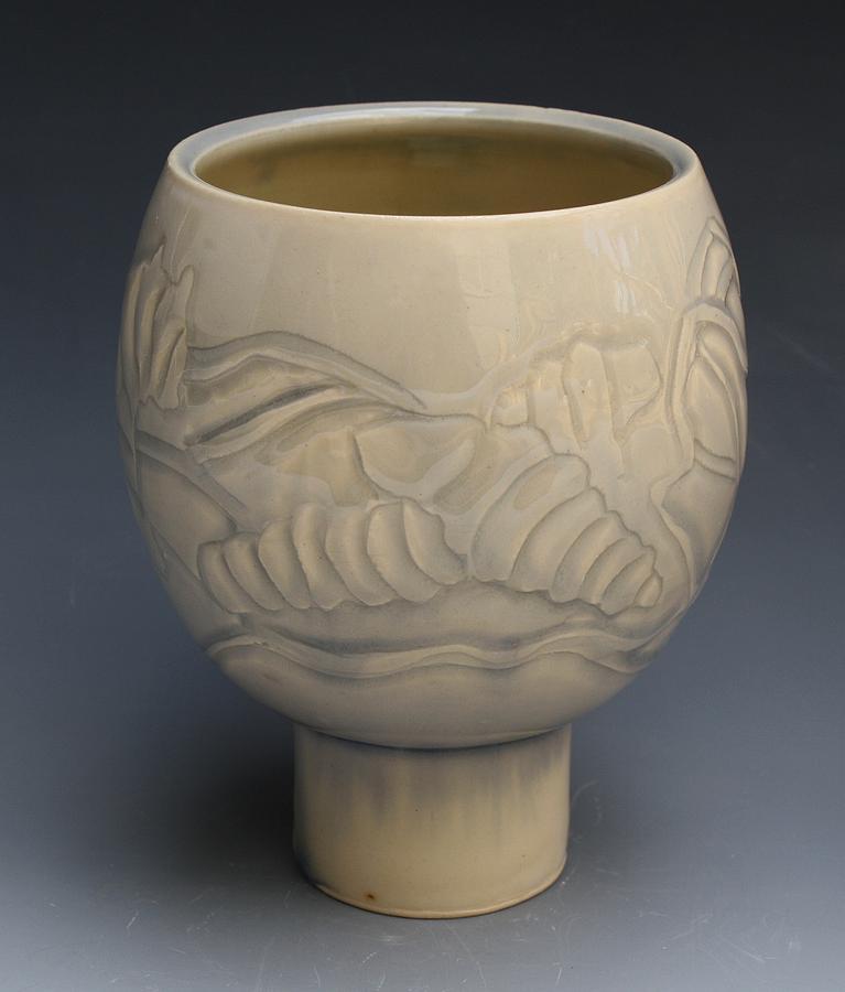 Caterpillar Ceramic Art - Caterpillar Cup by Patty Sheppard