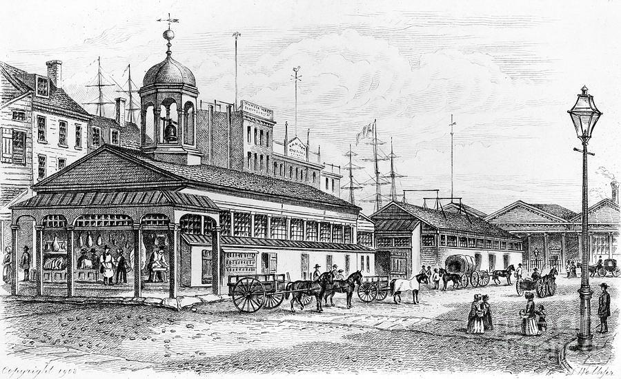 1850 Photograph - Catharine Market, 1850 by Granger