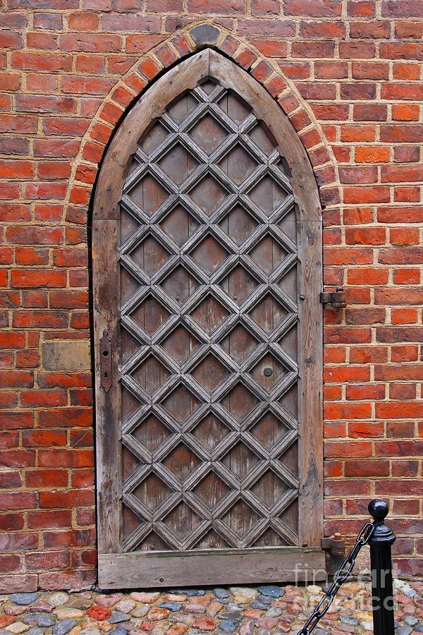 Door Photograph - Cathedral Door In Gdansk by Sophie Vigneault