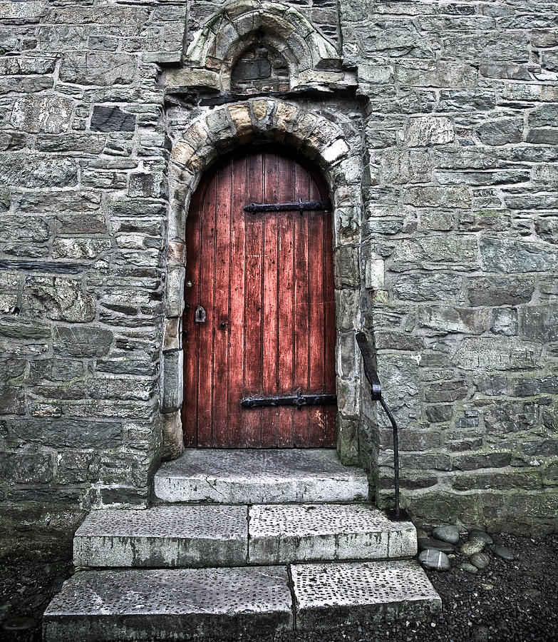 Kinsale Photograph - Cathedral Door by Patrick  Flynn