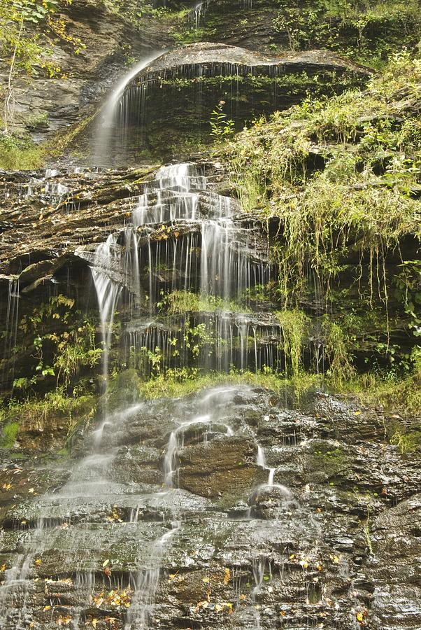 Scenic Photograph - Cathedral Falls 3249 by Michael Peychich