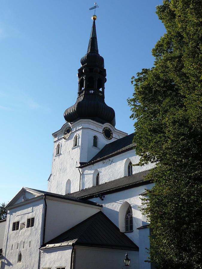 Tallinn Photograph - Cathedral Of Saint Mary The Virgin In Tallinn by Christopher Mullard