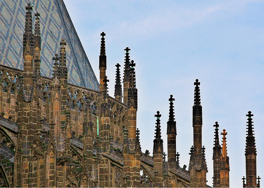 Vitus Photograph - Cathedral Of Ss Vitus - Prague Castle Hradcany - Prague by Christine Till