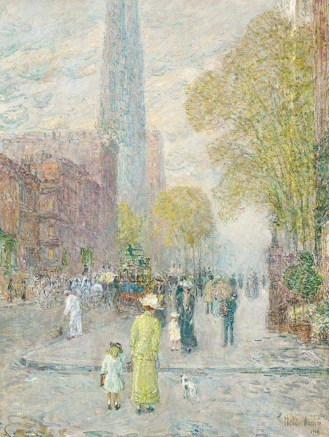Cathedral Spires Painting - Cathedral Spires by Childe Hassam