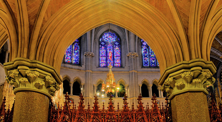 Sacred Heart Cathedral Photograph - Cathedral Study by Dave Mills