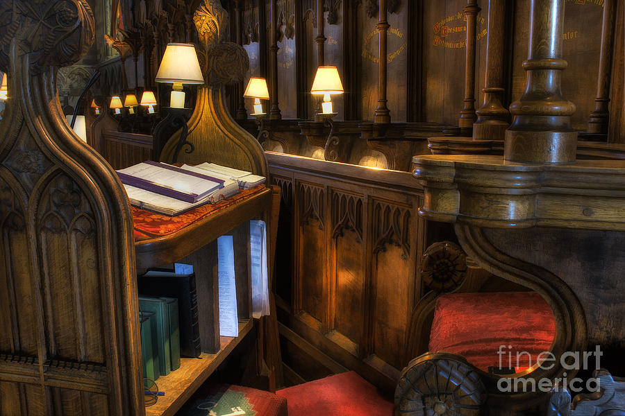 Cathedral Photograph - Cathedrals Chief Stall by Ian Mitchell