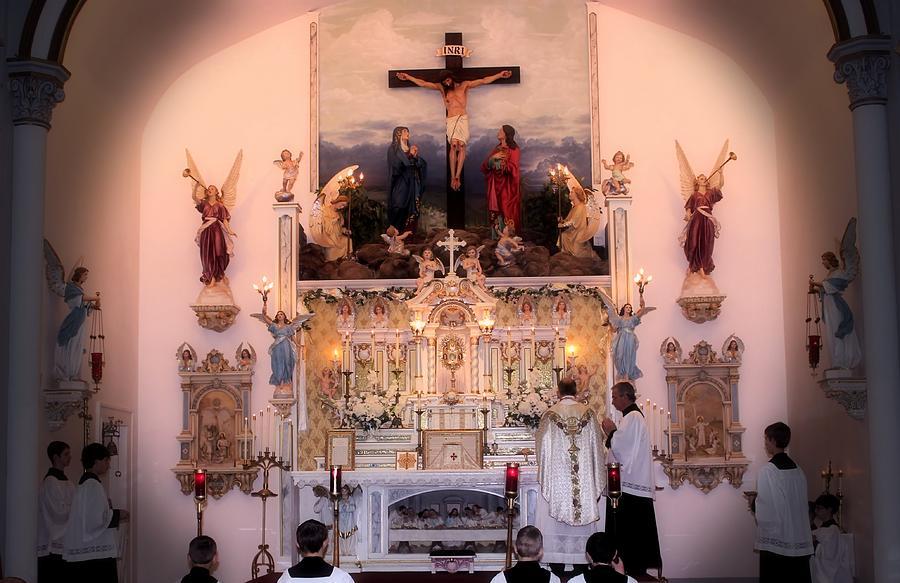Catholic Photograph - Catholic Mass by Myrna Migala