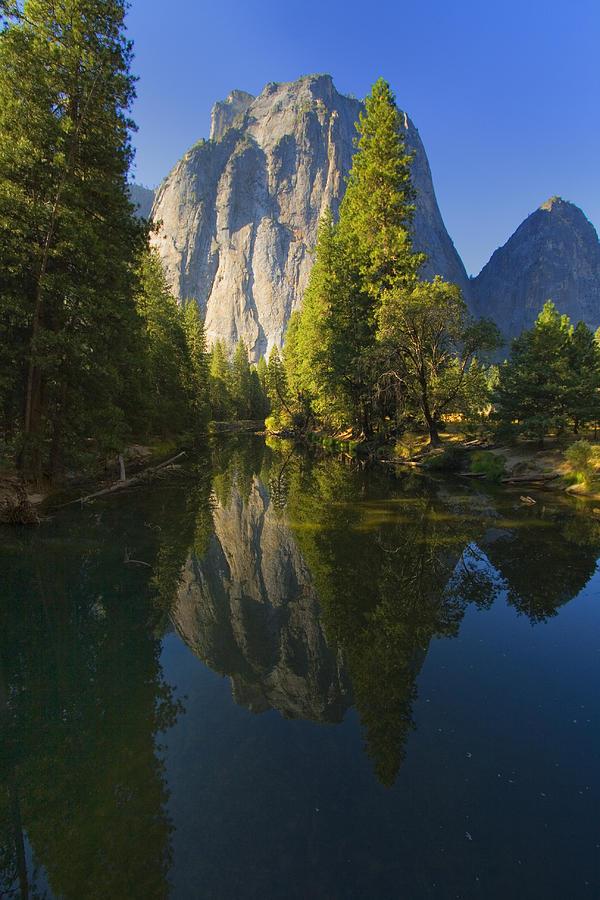 Evergreen Photograph - Cathredal Rocks Reflection by Joe Darin