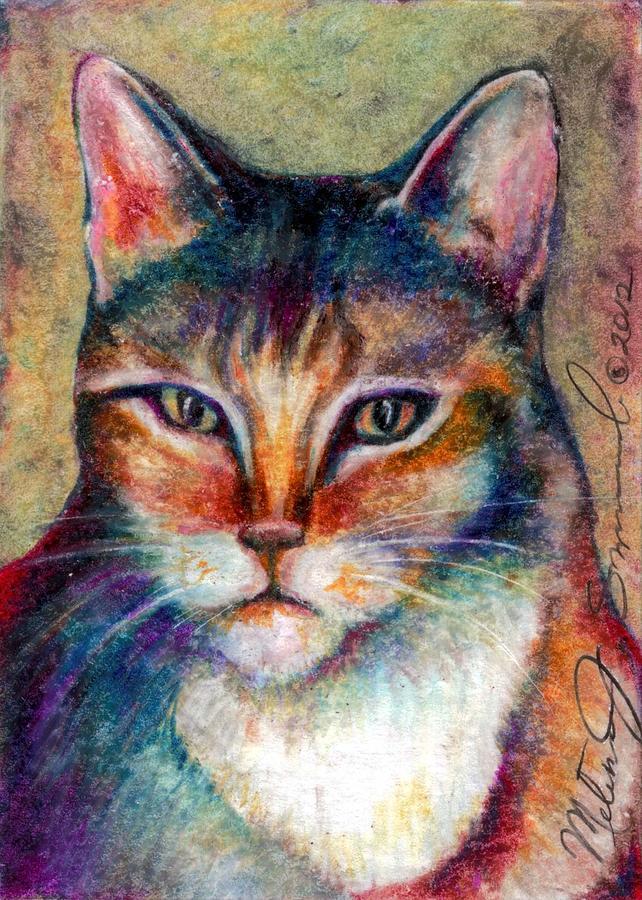 Meow Drawing - Catitude by Melissa J Szymanski