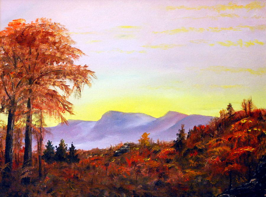 Landscape Painting - Catskills by Phil Burton