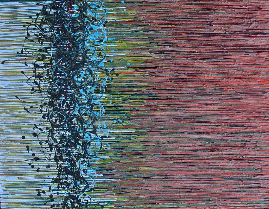 Abstract Painting - Caught In The Net by Kate Tesch