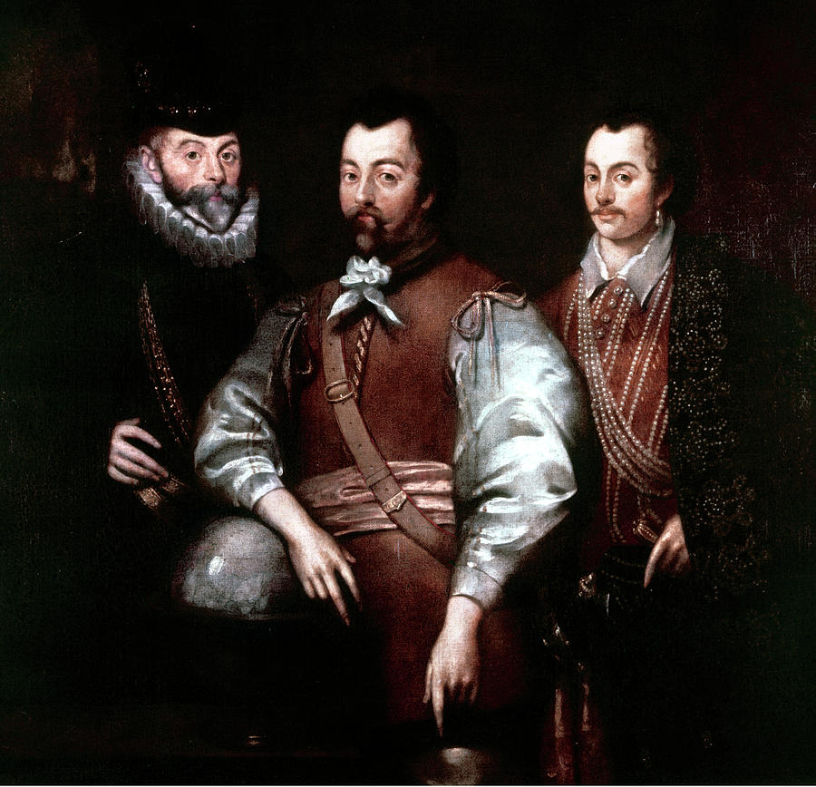 16th Century Painting - Cavendish Drake And Hawkins by Granger
