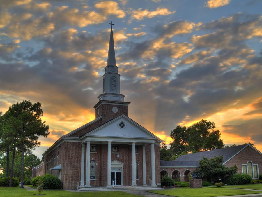 Church Photograph - Cayce Umc-1 by Charles Hite