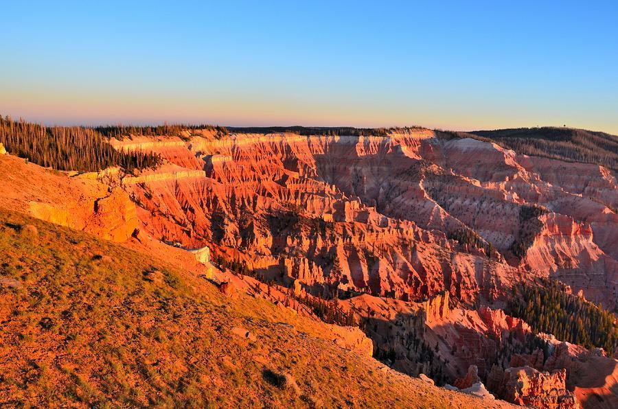 Cedar Breaks National Monument Photograph - Cedar Breaks Sunset by Mark Bowmer