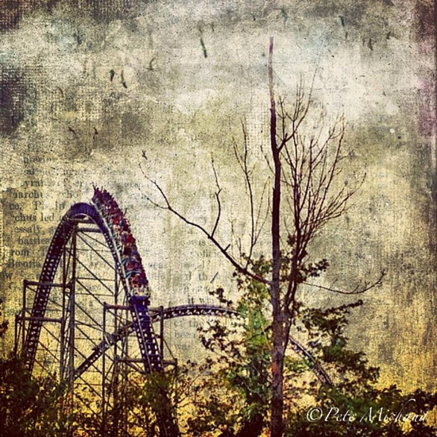 Love Photograph - #cedarpoint #rollercoaster #ohio by Pete Michaud