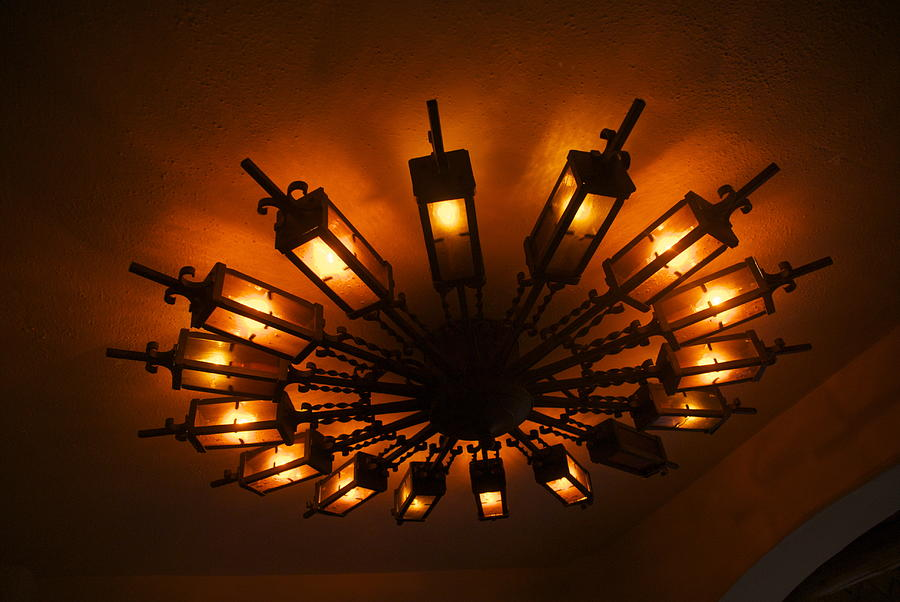 Ceiling Light At One O Clcok Photograph by Dietrich Sauer