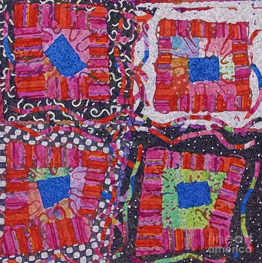 Funky Digital Art - Celebrate Color by Marilyn West