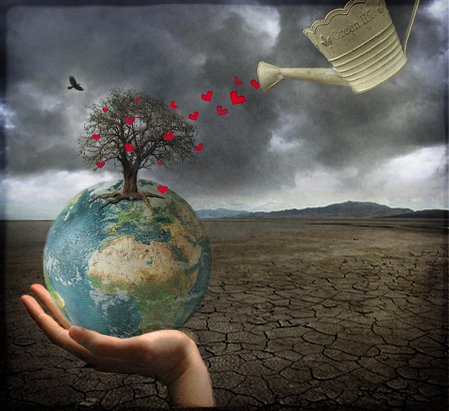 Earth Digital Art - Celebrate Earth Day...everyday by Marie  Gale